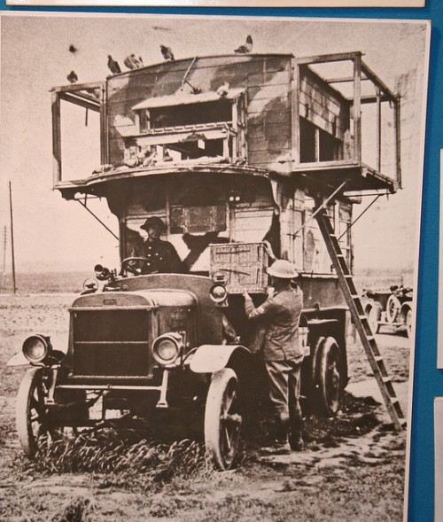 First World War mobile pigeon loft