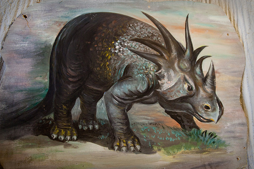A painting of the Styracosaurus